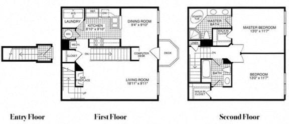 Floor plan at Woodland Park, Virginia