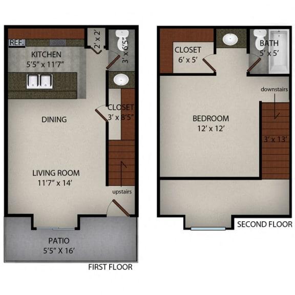 Turtle Pointe Apartments Delano Floor Plan