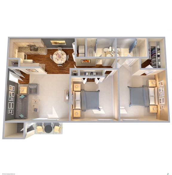 Floor Plan  The Park at Wintergreen Apartments | DeSoto, TX | Floor Plans