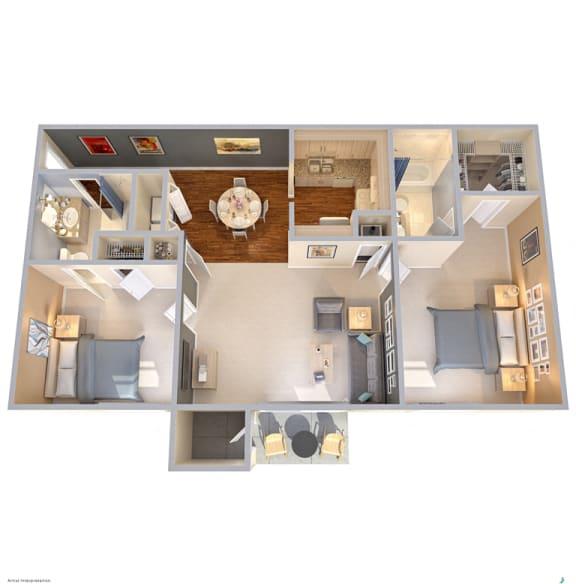 Floor Plan  The Park at Wintergreen Apartments   DeSoto, TX   Floor Plans