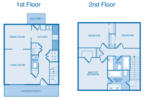 3 Bedroom, 2.5 Bath Small Floor Plan at Orchard Hills, Jeffersonville, IN, 47130