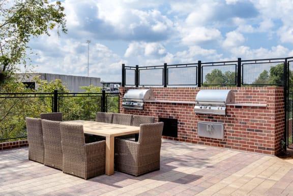 BBQ pool area at Walton Westside, Atlanta, GA