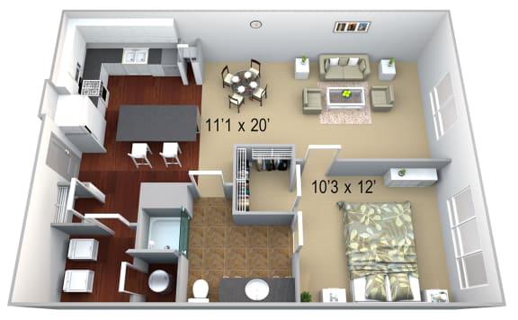 Walton Westside A2 Floor Plan