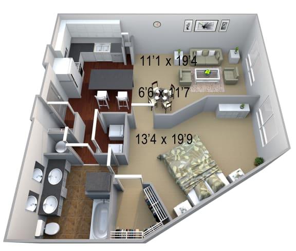 Walton Westside A4 Floor Plan