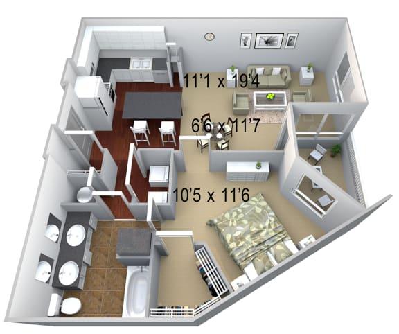 Walton Westside A5 Floor Plan