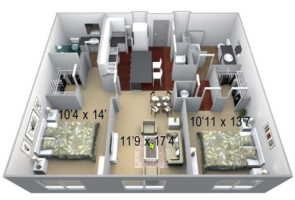 Walton Westside B1 Floor Plan