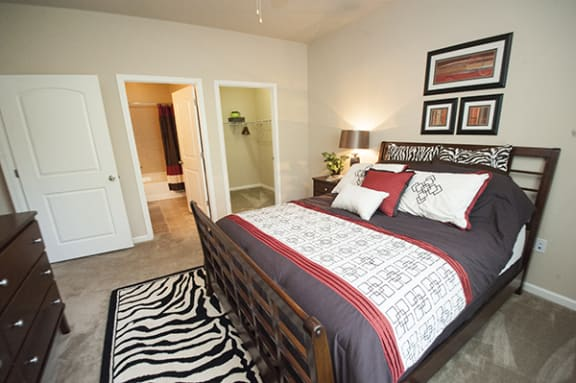 Live in cozy bedrooms at The Enclave at Pamalee Square Apartments, Fayetteville, NC,28301