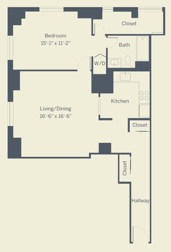 A11 Floor Plan at The Franklin Residences, Philadelphia, Pennsylvania