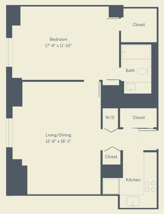 A4 Floor Plan at The Franklin Residences, Philadelphia, 19107
