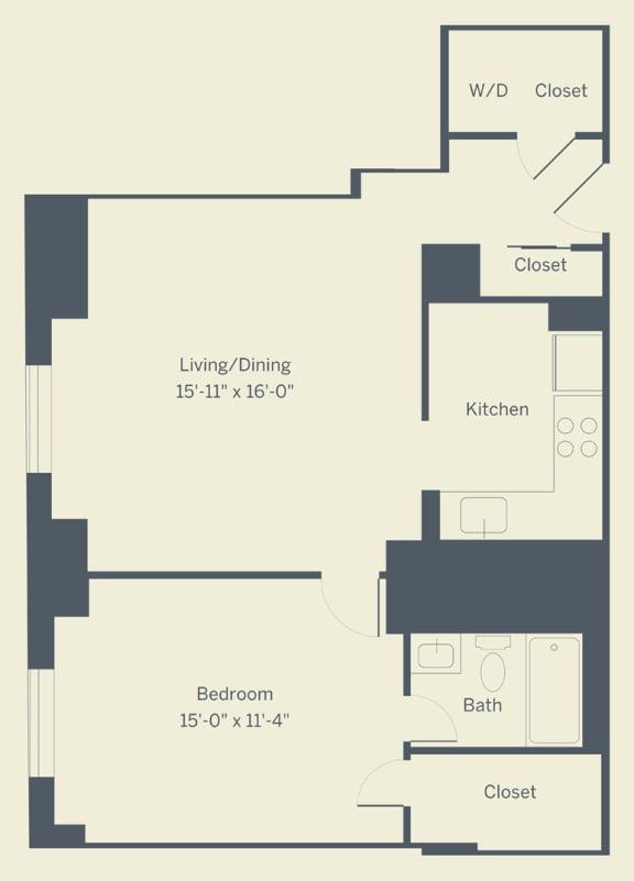 A5 Floor Plan at The Franklin Residences, Philadelphia