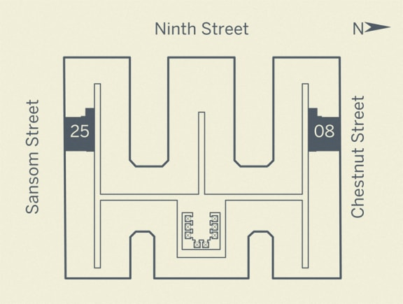 A5 Floor Plan at The Franklin Residences, Pennsylvania