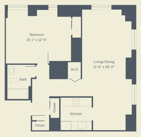 A6 Floor Plan at The Franklin Residences, Pennsylvania, 19107