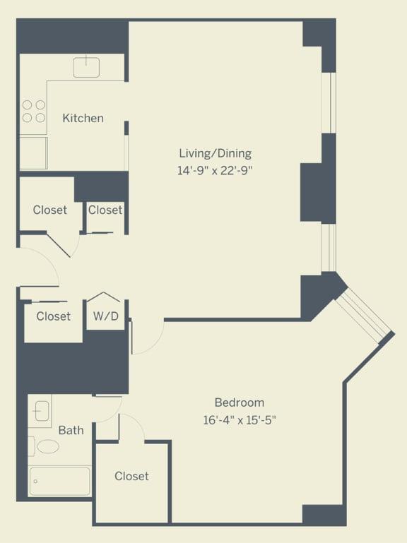 Floor Plan  A8 Floor Plan at The Franklin Residences, Philadelphia, Pennsylvania
