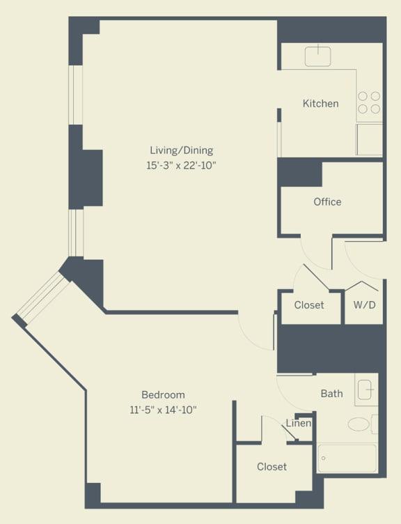 A9 Floor Plan at The Franklin Residences, Pennsylvania