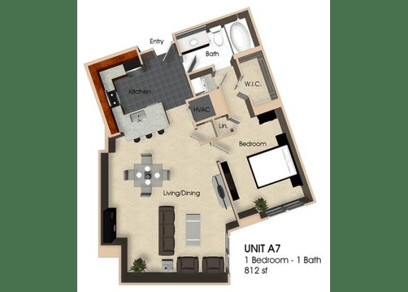 Floor Plan  Floor plan at Aurora, North Bethesda, MD,20852