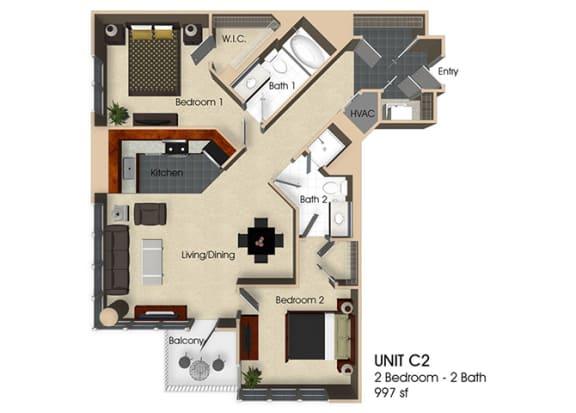 Floor Plan  Floor plan at Aurora, North Bethesda