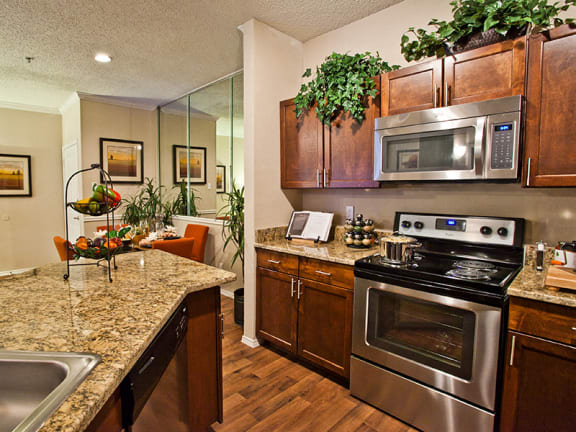Apartments near farmers branch TX with full kitchen and dishwasher