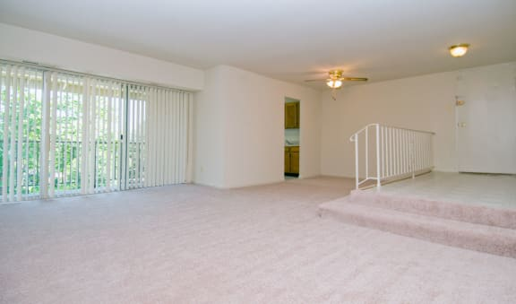 Carpeted Living Room at Hickory Hill, Suitland, MD,20746