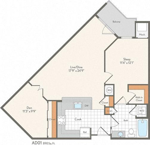 Floor Plan  AD01 Den