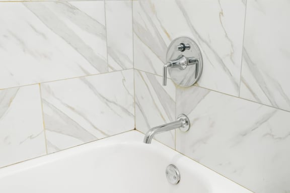 Large Soaking Tub In Bathroom at Somerset Place Apartments, Illinois, 60640