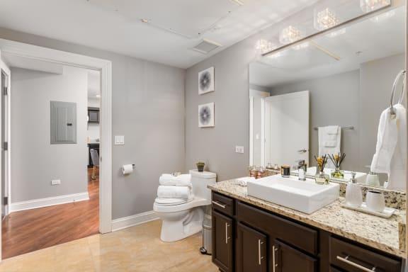Designer Bathroom Suites at Somerset Place Apartments, Chicago, 60640