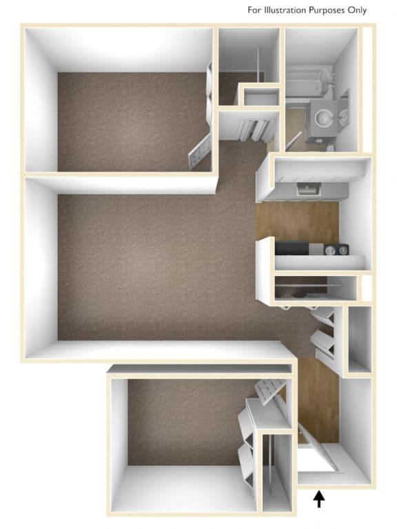 Two Bedroom Apartment Floor Plan Moorhead Tower Apartments