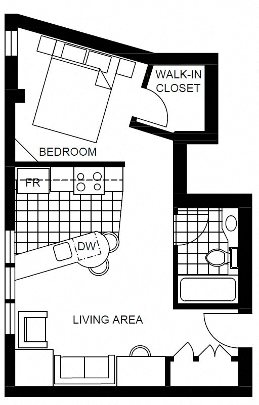 Floor Plan  studio apartment rentals