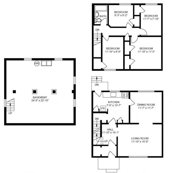 Floor Plan  4 Bedroom House