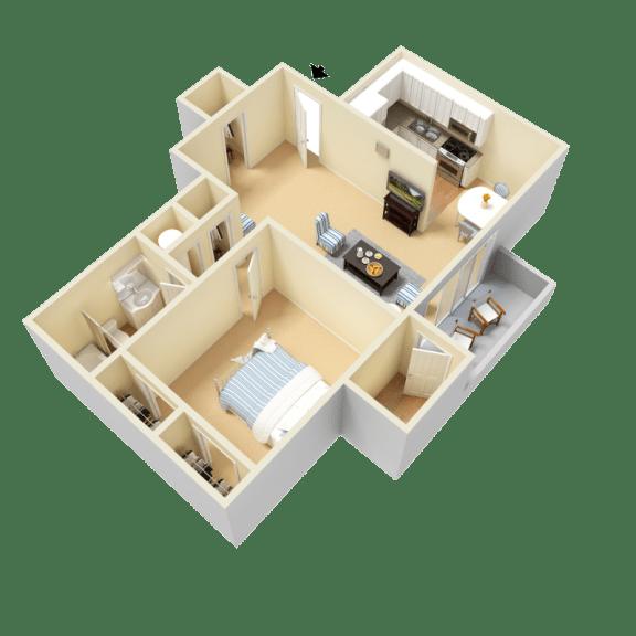 Floor Plan  Kaplan Floor Plan at Clarion Crossing Apartments in West Raleigh NC