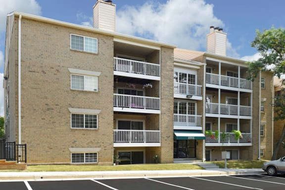 Private Patio at McDonogh Township Apartments, Owings Mills, MD