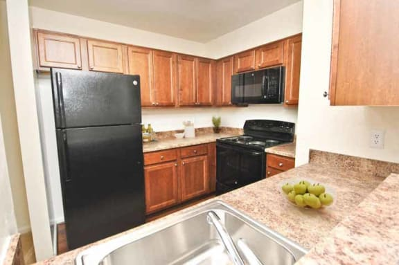 Spacious Full Size Kitchen at The Crossings at White Marsh Apartments, Perry Hall, MD