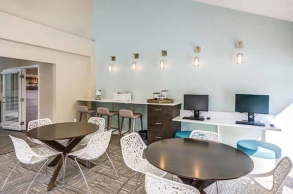 Cyber Lounge With Computers at The Crossings at White Marsh Apartments, Maryland