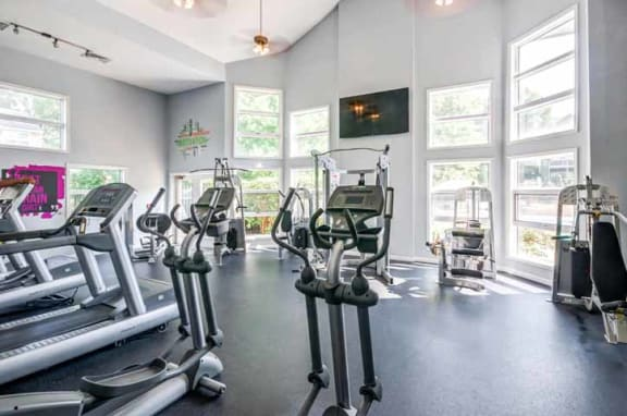 Free Weights and Cardio Equipment at The Crossings at White Marsh Apartments, Perry Hall, MD
