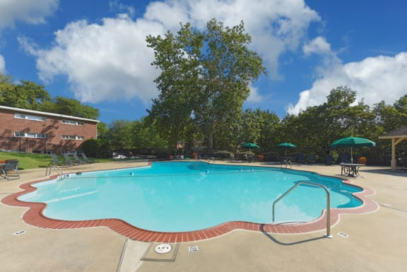 Resort-Style Zero-Entry Pool at Falls Village Apartments, Baltimore, MD,21209