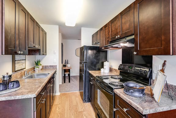 Efficient kitchens at Westwinds Apartments, Annapolis, MD