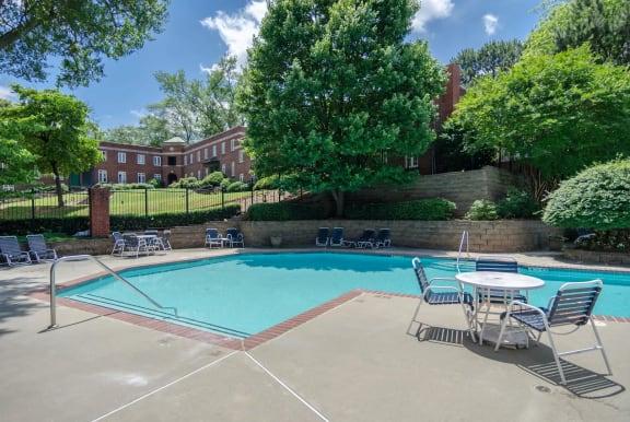 Resort stlye swimming pools at Centennial Place in Atlanta, Georgia