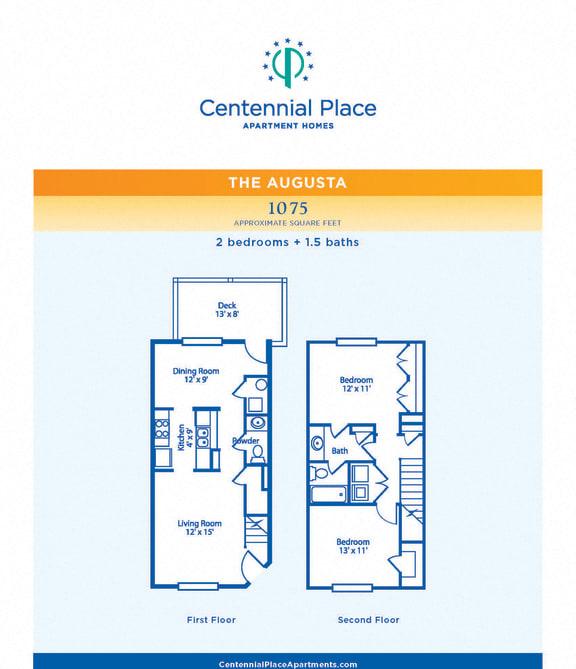 Floor Plan  Augusta floor plan at Centennial Place in Atlanta, Georgia