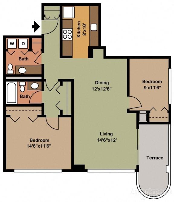 Two Bedroom Apartments in Virginia