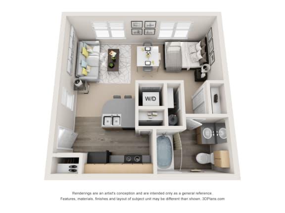 Floor Plan  The Mod - Studio