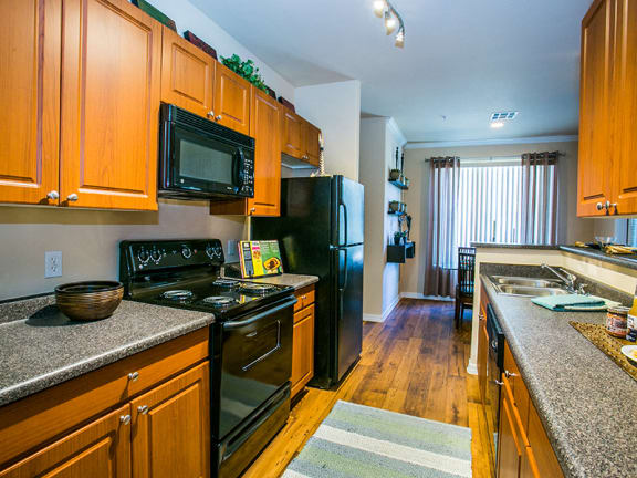 Full Kitchen with Microwave in Mesa, Arizona Apartment with Extra Storage