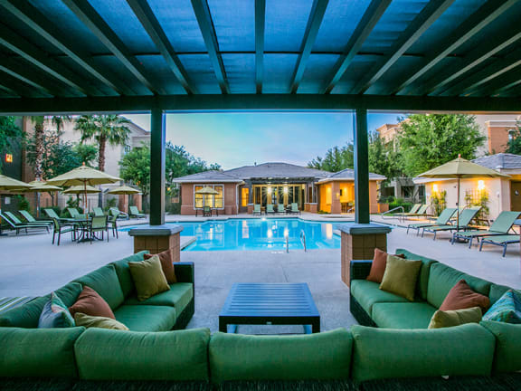 Relaxing Poolside Ramada at Mesa, AZ Apartment Near State Route 202