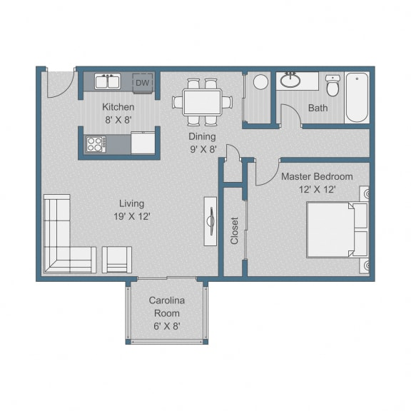 Deluxe Floor Plan at Sterling Bluff Apartments, Savannah