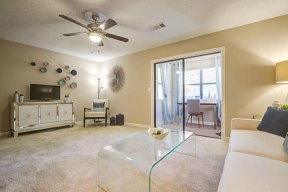 Spacious Living Room at Sterling Bluff Apartments, Savannah, GA