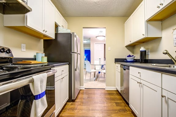 Fully Equipped Kitchen at Sterling Bluff Apartments, Savannah