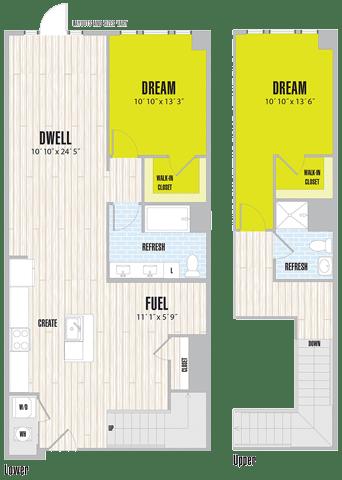Floor Plan  BL1 Loft