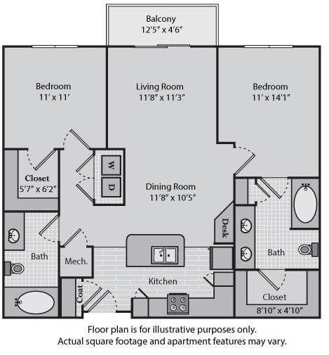 Floor Plan  Hudson at Windsor at Brookhaven, 305 Brookhaven Ave., Atlanta, 30319