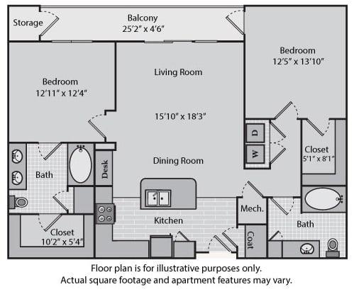 Floor Plan  Sullivan at Windsor at Brookhaven, 305 Brookhaven Ave., Atlanta