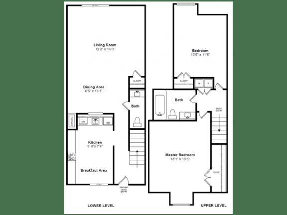 Floor Plan  Faneuil Floor Plan at Windsor Village at Waltham, 976 Lexington Street, Waltham, MA 02452