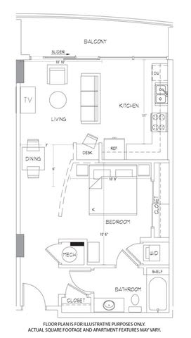 A1 Floorplan at Glass House by Windsor