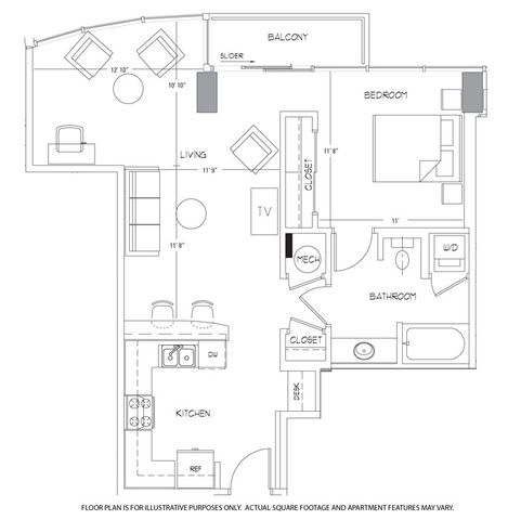 A6 Floorplan at Glass House by Windsor